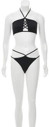 Cushnie et Ochs Crossover Two-Piece Swimsuit w/ Tags