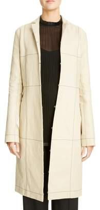 Loewe Topstitched Linen Coat