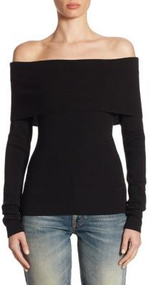 Ralph Lauren Collection Off-The-Shoulder Wool Top $550 thestylecure.com
