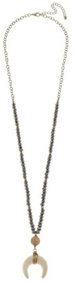 Women's Canvas Jewelry Beaded Horn Necklace $32 thestylecure.com