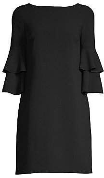 Trina Turk Women's Leona Ruffle Sleeve Dress