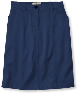 L.L. Bean L.L.Bean Easy-Stretch Skirt, Twill