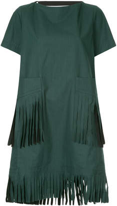 Sacai fringe detail dress