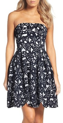 Women's Maggy London Bonded Mesh Fit & Flare Dress $168 thestylecure.com