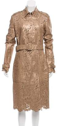 Burberry Laser Cut Leather Trench