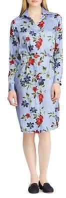 Lauren Ralph Lauren Floral Knee-Length Shirtdress
