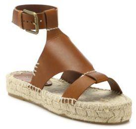 Soludos Banded Shield Leather Espadrille Sandals $129 thestylecure.com