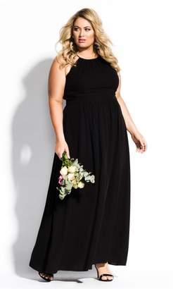 City Chic Citychic Devotion Maxi Dress - black