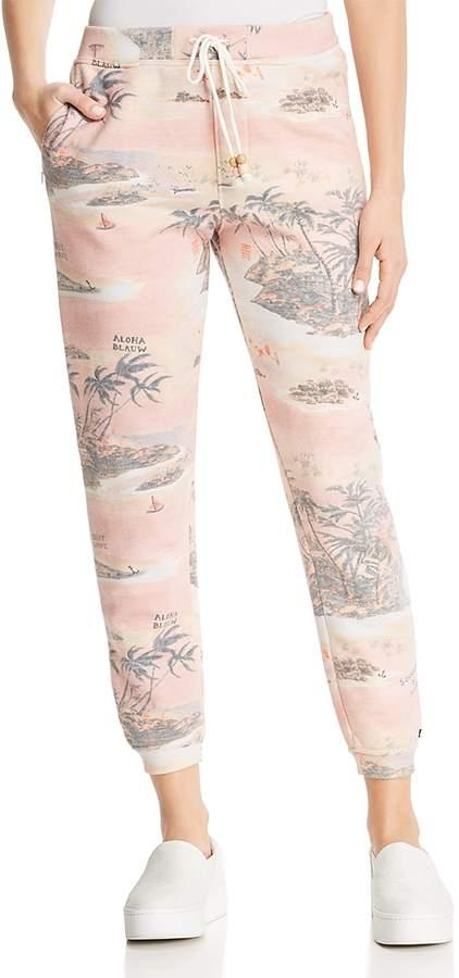 Souvenir Print Jogger Pants