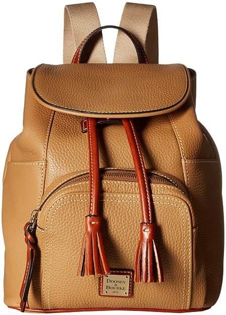 Dooney & Bourke Pebble Medium Murphy Backpack Backpack Bags - DESERT/TAN TRIM - STYLE