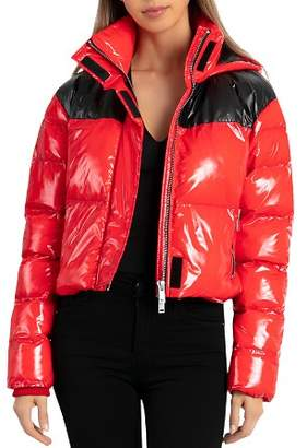 BAGATELLE.NYC Cropped Hooded Puffer Jacket
