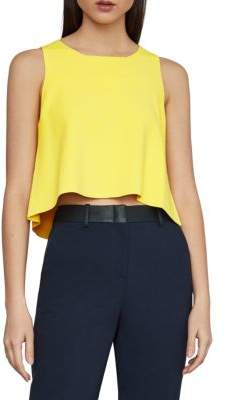 BCBGMAXAZRIA Split-Back Cropped Tank Top