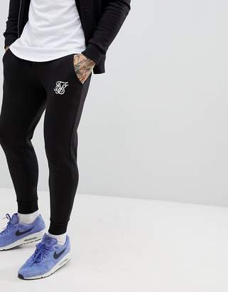 SikSilk jogger in black with logo