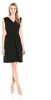 Lark & Ro Women's Sleeveless Shirred Fit and Flare Dress