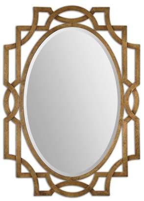 Uttermost 'Margutta' Antiqued Goldtone Oval Mirror