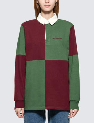 Have A Good Time Color Blocked Rugby Shirt