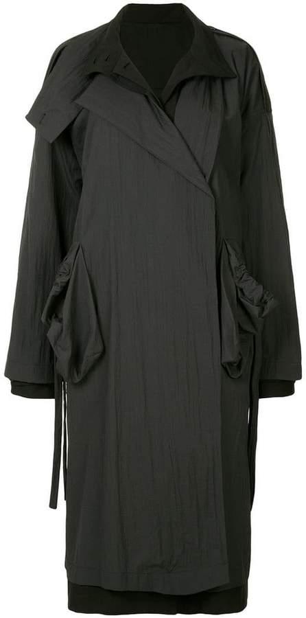 Nehera two-piece layered mid-length coat