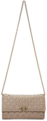 Valentino Pink Garavani Small Rockstud Spike Chain Bag
