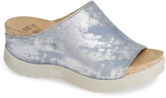 Fly London 'Wigg' Platform Wedge Slide Sandal