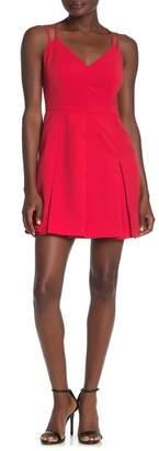 Adelyn Rae Pamela Woven Pleated Mini Skater Dress