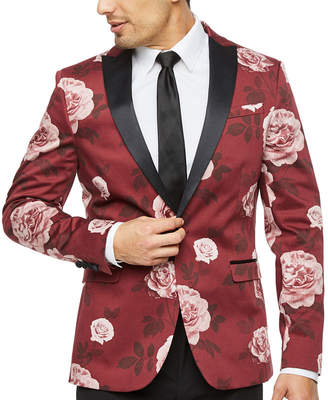5b13ad983f0 Jf J.Ferrar Floral Super Slim Fit Stretch Tuxedo Jacket