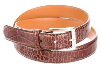 Polo Ralph Lauren Embossed Leather Buckle Belt