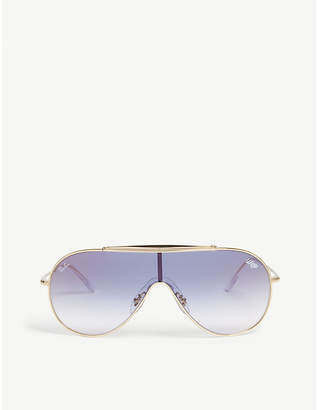 Ray-Ban Rb3597 wrapped aviator sunglasses