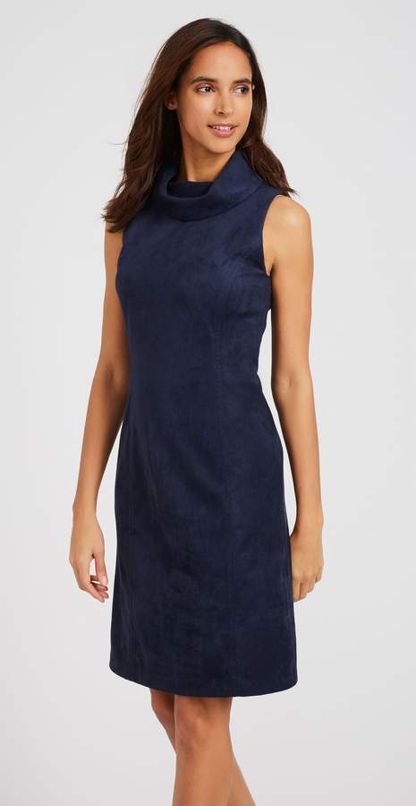Camino Dress in Faux Suede