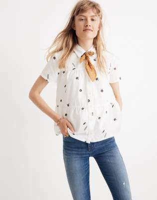 Madewell Seamed Button-Down Shirt in El Rancho