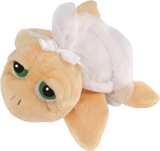 Suki Gifts Li'L Peepers Turtles Bride Turtle Soft Boa Plush Toy with Tuile Frill (Small White)