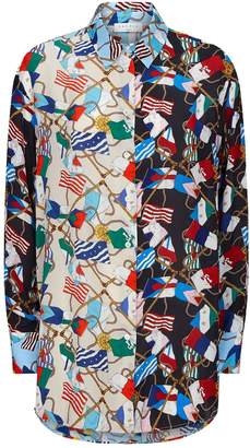 Sandro Scarf Print Shirt