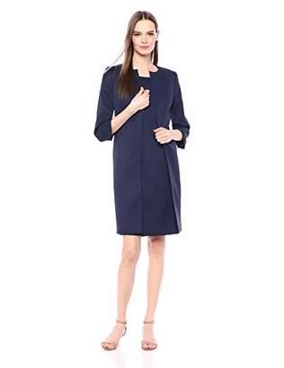 Le Suit Women's Jacquard Topper with Sheath Dress