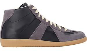 Maison Margiela Men's Mid-Top Sneakers - Black