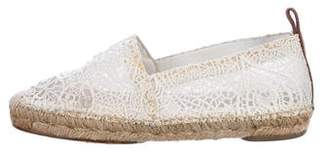 Chloé Embroidered Round-Toe Espadrilles