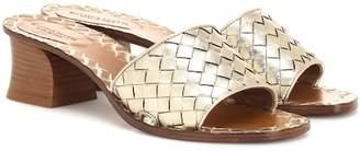 Bottega Veneta Ravello intrecciato leather sandals