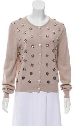 Clements Ribeiro Embellished Cashmere Knit Cardigan