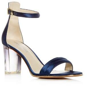 Kenneth Cole Women's Lex Satin High Block Heel Sandals
