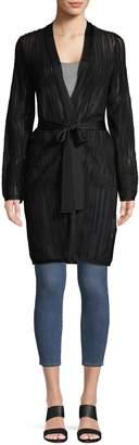 M Missoni Textured Knit Wrap Cardigan Sweater