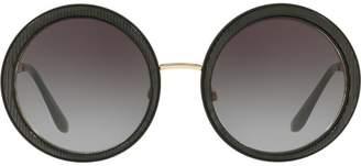 Dolce & Gabbana Eyewear ridged round sunglasses