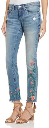 BLANKNYC Embroidered Skinny Ankle Jeans in Wild Child - 100% Exclusive $108 thestylecure.com