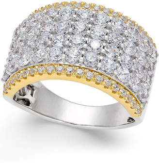 Macy's Diamond Multi-Row Band (3 ct. t.w.) in 14k White and Yellow Gold