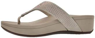 Vionic Women's Naples Arch Support Thong Wedge Sandal M US