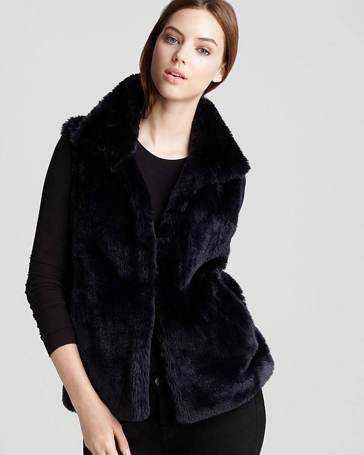 Aqua Faux Fur Vest