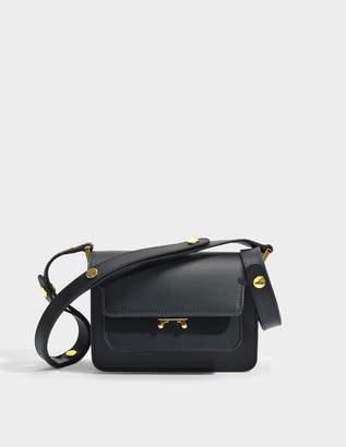 Marni Mini Trunk Bag in Black Matte Calfskin