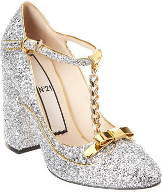 N°21 N21 Glitter Chain Mary Jane Pump