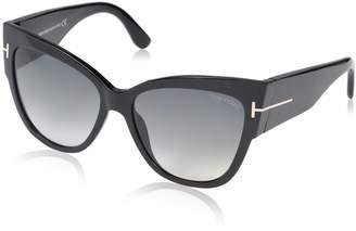 Tom Ford Women's Gradient Anoushka FT0371-01B-57 Cat Eye Sunglasses