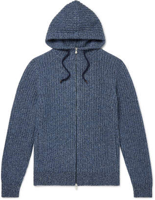Brunello Cucinelli Cashmere Zip-Up Hoodie - Men - Blue