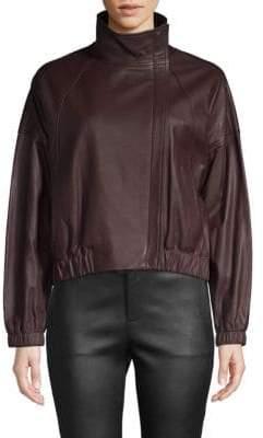 Vince Classic Leather Moto Jacket