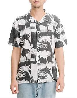 Thrills Distorted Palm Bowling Shirt
