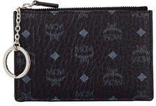 MCM Canvas Logo Mini Key Pouch Bag